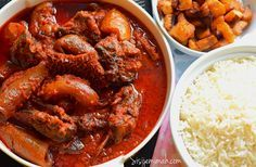 Nigerian Assorted meat stew is a very popular Nigerian stew recipe. It is a very versatile stew/ sauce recipe and can be paired with almost all foods.