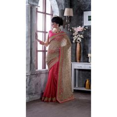 Buy Online Designer Sarees, shari, Ethnic sarees, Pink and Beige Color, Net and Satin Material, Saree, sari, partywear, kitty party wear, wedding wear for women. We have large range of Designer Net Sarees in our website with the best pricing and unique designs shipping to (UK, USA, India, Germany, UAE, Canada, Singapore, Australia, Mauritius, New Zealand) world wide.