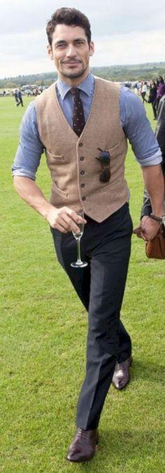 31 Best Classy Outfit Ideas for Men - Herren- und Damenmode - Kleidung Derby Outfits, Vest Outfits, Derby Attire, Sharp Dressed Man, Well Dressed Men, Look Man, Tailored Shirts, Dapper Men, Gentleman Style
