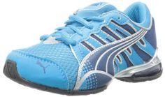PUMA Voltaic 3 Jr Running Shoe (Little Kid/Big Kid),Ocean/Poseidon/Silver