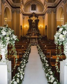 Wedding Ceremony With Floral Aisle - Tiffany Green Destination Wedding In Italy . Wedding Ceremony With Floral Aisle - Tiffany Green Destination Wedding In Italy With Glamorous Outdoor Seating Area And . Simple Church Wedding, Wedding Church Aisle, Church Wedding Flowers, Church Ceremony, Church Weddings, Church Pews, Chapel Wedding, Wedding Reception, Wedding Aisle Outdoor