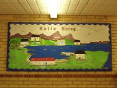 A delightful display, linked to the story of Katie Morag. Class Displays, Classroom Displays, Katie Morag, Primary School Teacher, 3 Arts, British Isles, Island Life, Geography, Literacy