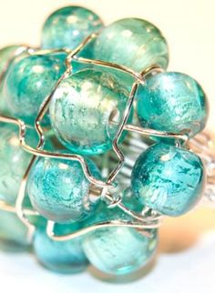 Bellezza Glass Bead Ring,  Jewelry, ring