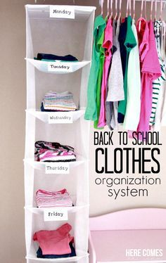 A clothes organization system that will make school mornings a breeze!