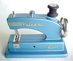 """1950's toy """"Vulcan Junior"""" Sewing Machine - I had a pink one, actually taught myself how to sew using it & still love sewing!"""