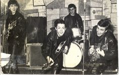 The Beatles (with Pete Best at drums) playing the Cavern Club,1961