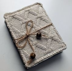 Unique Hand-knitted Notebook Cover А6 Diary Fabric Cover Coptic Stitch Coffee Aged Paper Textile Book Cover  Rustic Journal Ecofriendly
