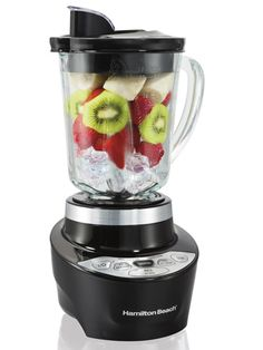 Blending up summer smoothies is as easy as pressing a button with the Hamilton Beach Smoothie Start Blender ($39.99).