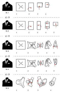 5 formas de usar um lenço no bolso do blazer