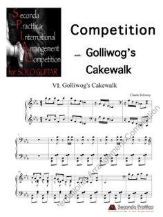 Seconda Prattica - Golliwog's Cakewalk Competition, Sheet Music, Musica, Music Sheets