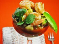 Traditional Mexican Shrimp Cocktail. Photo by Kerfuffle-Upon-Wincle