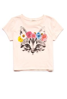 Why can't this be for adults?! Flower Cat Tee (Kids) | FOREVER21 girls - 2055901431