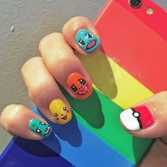 Pokémon Primera Generación: | 23 Increíbles diseños de uñas inspirados en Pokémon.