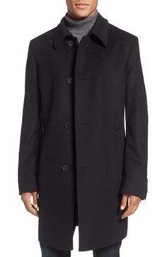 BOSS The Task Wool & Cashmere Overcoat available at #Nordstrom