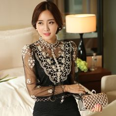 Cheap blouse women, Buy Quality blouse tshirt directly from China blouse lace Suppliers:               Welcome to our store:   http://www.aliexpress.com/store/1802227