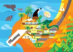 Monterey Illustrated Map on Behance