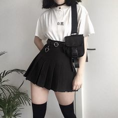 Fashion 2019 New Moda Style - fashion Crop Top Outfits, Cute Casual Outfits, Edgy Outfits, Mode Outfits, Korean Outfits, Grunge Outfits, Hippie Outfits, Anime Outfits, Goth Girl Outfits