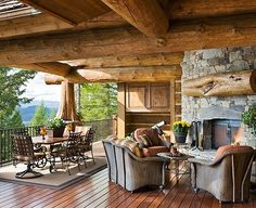 Rustic...beautiful porch.