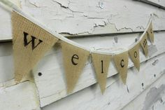 Welcome Shabby Chic Banner