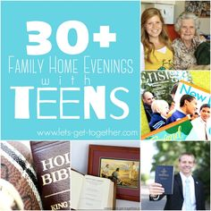 These are amazing Family Home Evening ideas with Teens!  Love this! 30+ Family…