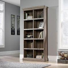 SAUDER Barrister Lane Collection 5-Shelf Vertical Bookcase in Salt Oak 414108 at The Home Depot - Mobile