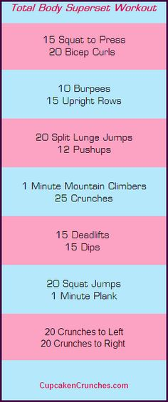 Total Body Superset Workout