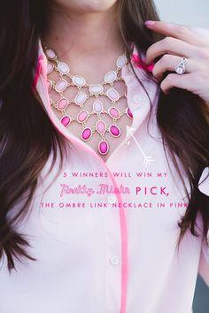 Pink Peonies wearing Prettymints Jewelry - www.prettymints.com