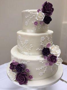beautiful wedding cakes Shades of Purple - Wedding Cake Decorations Wedding Cake Fresh Flowers, Purple Wedding Cakes, Elegant Wedding Cakes, Beautiful Wedding Cakes, Beautiful Cakes, Wedding Colors, Cake Wedding, Elegant Cakes, Purple Cakes