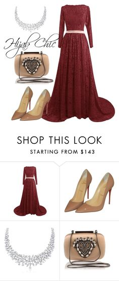 """Hijab Chic"" by hijab-chic on Polyvore featuring Christian Louboutin and Manolo Blahnik"