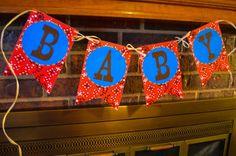 Western Baby Shower Pennant Banner