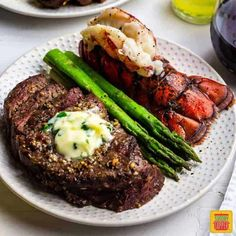 You need to try this surf and turf recipe! Air fried steak with luscious fried lobster tails topped off with herby garlic butter sauce makes an unforgettable dinner. Beautifully seasoned and perfectly cooked steak with buttery lobster tails is SO easy to make in the air fryer! #SundaySupper #airfryer #airfryerrecipes #steak #lobster #surfandturf #seafood #seafoodrecipes #steakrecipes #beef #easyrecipes #valentinesday Mixed Seafood Recipe, Seafood Recipes, Brunch Recipes, Shellfish Recipes, Steak Recipes, Dinner Recipes, Gaucho, Steak And Lobster Dinner, Cooking Frozen Lobster Tails