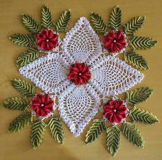 Resultado de imagen para grafico de centro de mesa de croche com flores