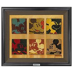 Disney ''6-Up Mickey'' Giclée on Canvas by Trevor Carlton - Limited Edition | Disney Store''6-Up Mickey'' Gicl�e on Canvas by Trevor Carlton - Limited Edition - The ever expressive Mickey is captured in six different poses in this pop art-style work by Trevor Carlton. The limited edition gicl�e on canvas ''6-Up Mickey'' is elegantly framed and part of our new Silver Series.