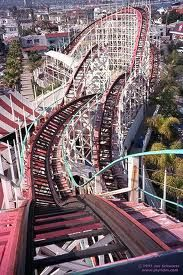 Giant Dipper - Belmont Park ... First big coaster ever ridden at night in the 5th Grade! Thus sealing my fate to slip into coaster madness!