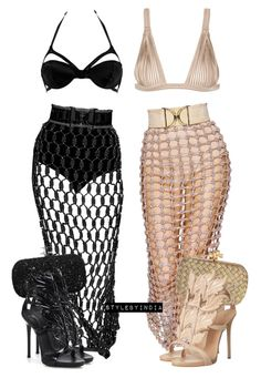 SQUAD by stylebyindia on Polyvore featuring polyvore, moda, style, La Perla, Lascivious, Giuseppe Zanotti, Marchesa, Bottega Veneta, fashion and clothing