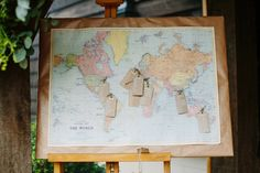 Love our world map wedding table plan used here at this wedding!  Map table plan available from www.theweddingofmydreams.co.uk #theweddingofmydreams
