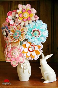 Maybe not a whole bouquet, but one of these on a winter coat would bring some much-needed-cheer in February!