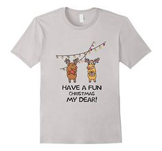 Men's Ugly Dear Xmas Tee Have a Fun Christmas My Dear T-shirt 2XL Silver