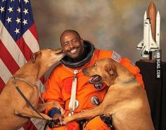 Astronaut Includes His Rescued Dogs in Best Official NASA Portrait Ever