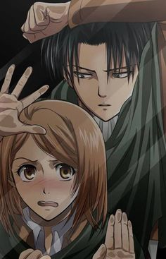 Petra: L-let me out! Levi: Why are you freaking out so much?