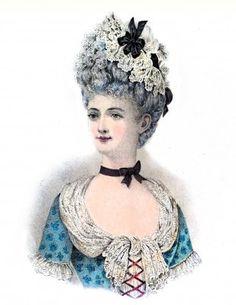 Coiffure Louis XV. 18ème siècle. La mode le rococo.                                                                                                                                                      Plus