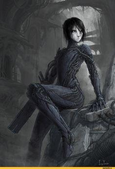 sanakan__by_icyymir-dakjfsw. Cyberpunk Character, Cyberpunk Art, Fantasy Warrior, Fantasy Girl, Blame Manga, Manga Cover, Science Fiction, Sci Fi Characters, Ghost In The Shell