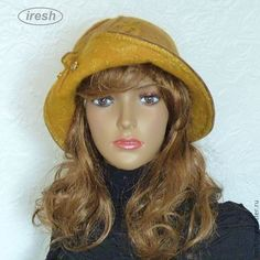 """Купить Валяная шляпа """"Дыхание осени"""" горчичный коричневый жёлтый. - коричневый, светло-коричневый, горчичный"""