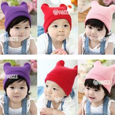 Spring Autumn Winter Warm Cotton Baby Hat Caps Girl Boy Toddler Infant Kids Lovely Beanies