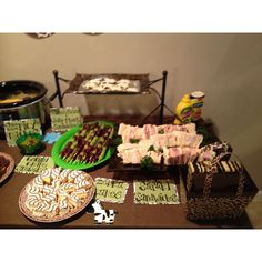 Animal themed foods for animal themed baby shower