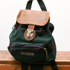 Vintage 90 s JANSPORT Canvas GRUNGE Revival Tapestry Mini Backpack DEADSTOCK 06d710c540f48