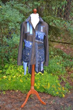 Crazy jacket decorated recycled and up cycled jacket hippie boho,Wearable Art, Hand Embroidered, Art to wear, Upcycled Clothing,