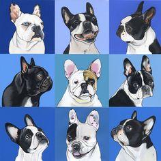 French Bulldog illustrations