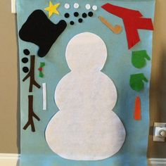 Excited to share this item from my shop: Felt Interacting Snowman Preschool Christmas Crafts, Xmas Crafts, Christmas Projects, Felt Crafts, Easy Christmas Crafts For Toddlers, Halloween Activities For Toddlers, Felt Christmas Ornaments, Kids Christmas, Felt Snowman