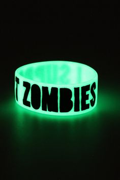 Rubber Bracelets For Mens : Support Zombies Glow-In-The-Dark Rubber Bracelet Goth Bands, Best Friend Outfits, Rubber Bracelets, Inspirations Magazine, Cool Outfits, Hot Topic Outfits, Band Merch, Emo Fashion, Bangle Bracelet